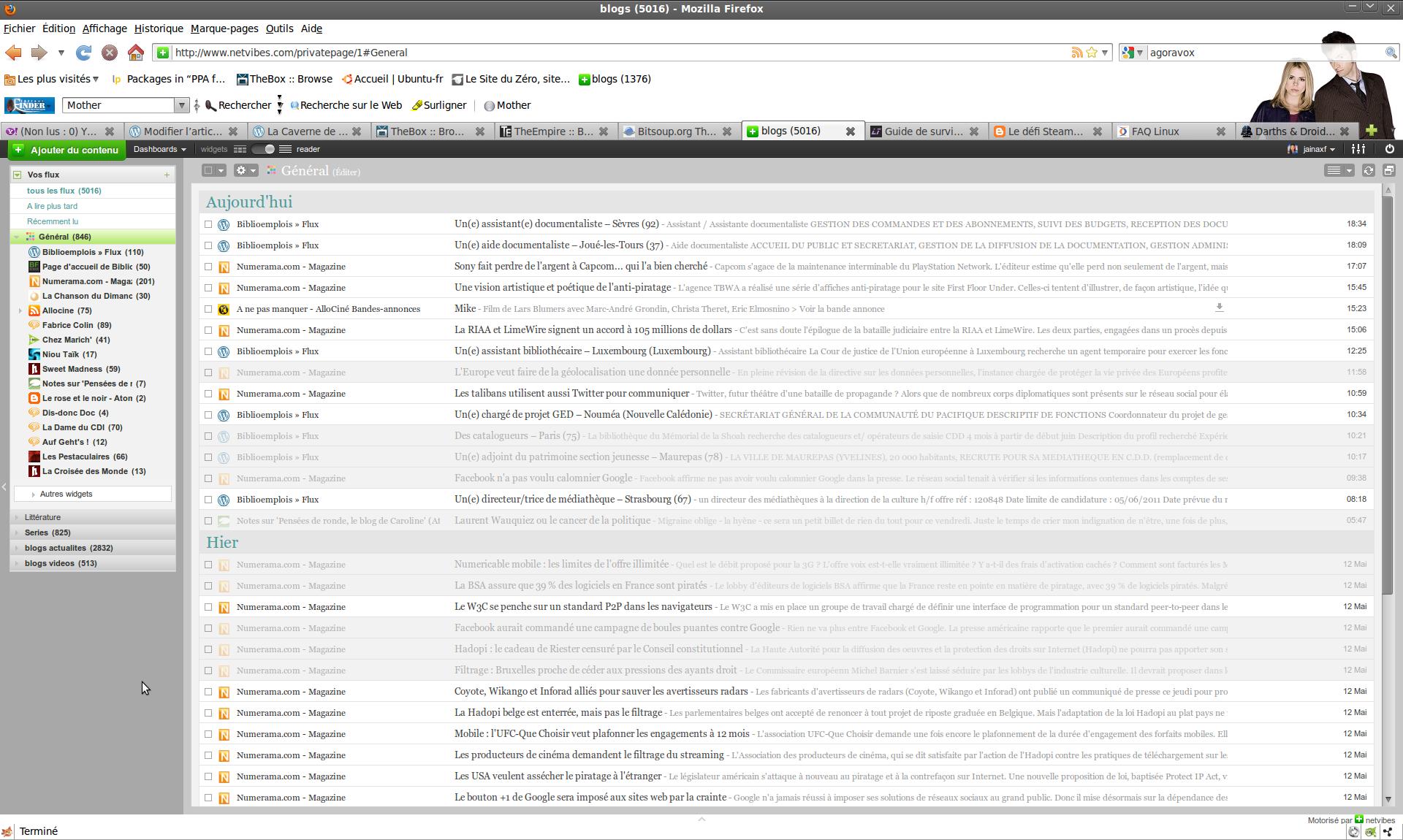 Presque nouveau lecteur RSS, KrISS feed est vraiment tout